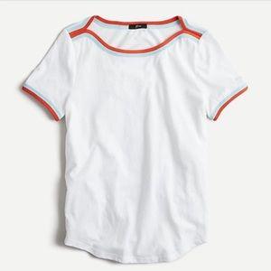 J Crew Short-sleeve Pop Trim Boatneck T-shirt